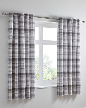 Caulfield Eyelet Curtains 66x72""