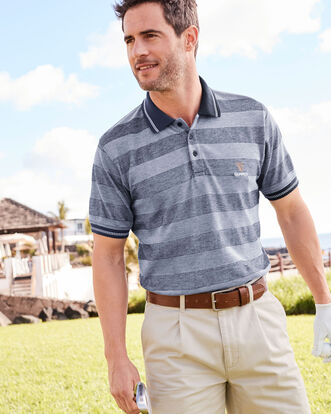 Guinness® Tonal Stripe Polo Shirt