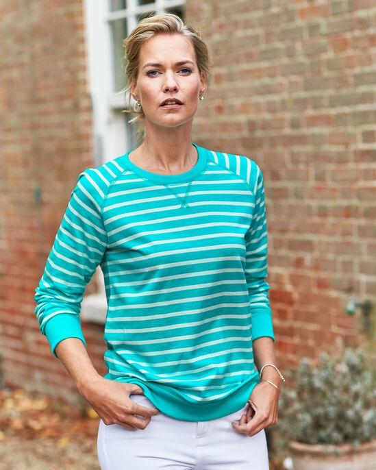 Crew Neck Stripe Sweatshirt
