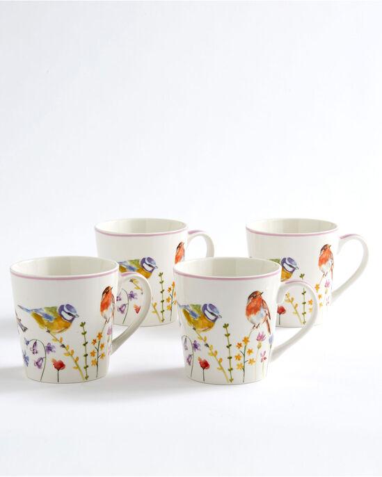 Set of 4 Garden Birds Mugs