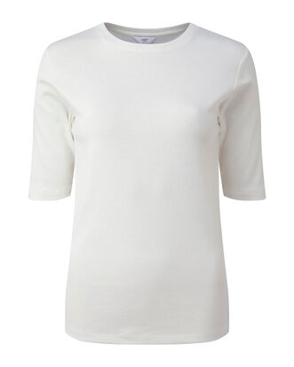 Wrinkle Free 1/2 Sleeve Crew Neck Top