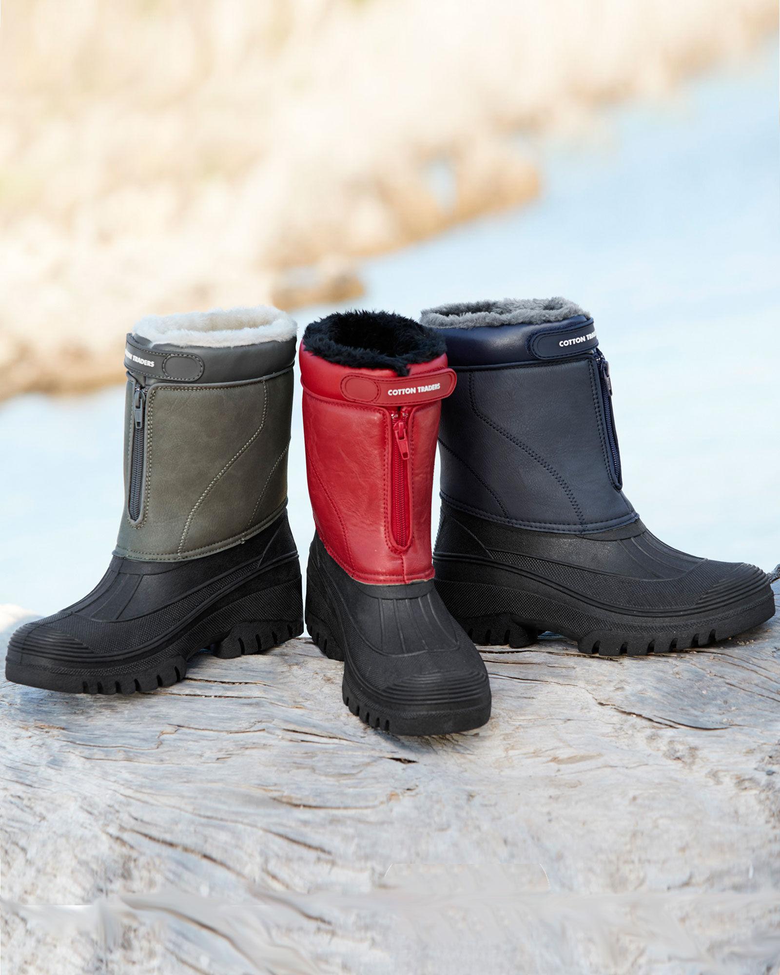 Faux Fur Lined Waterproof Boot