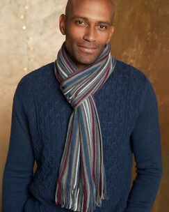 Mens Patterned Scarf