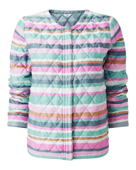 Quilted Stripe Zip Jacket