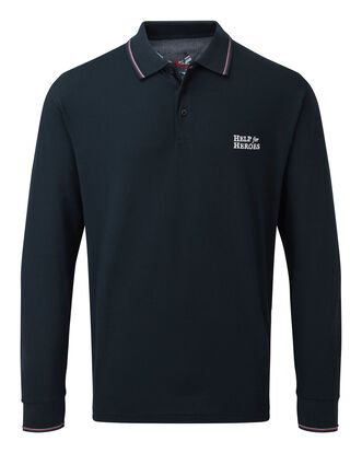 Help For Heroes Long Sleeve Tipped Collar Polo Shirt
