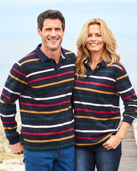 Stripe Fleece Rugby Shirt