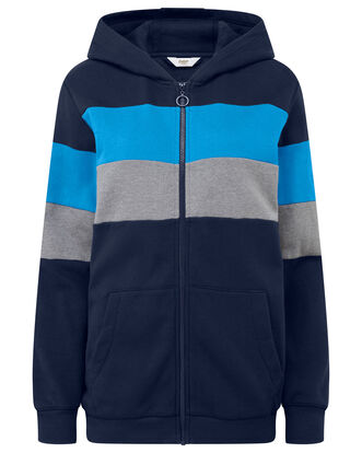 Stripe Hooded Jacket