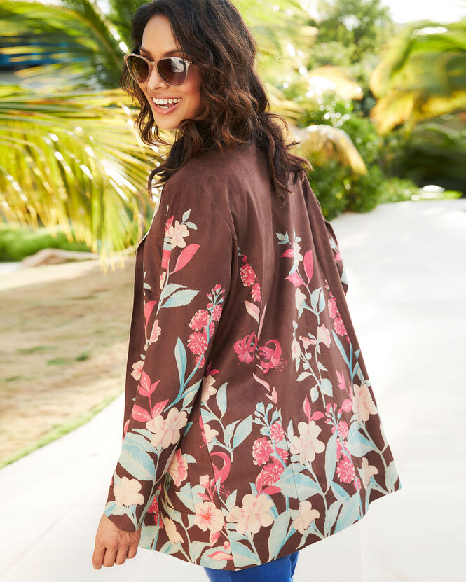 Women's Jackets for All Seasons | Floral Longline Jacket | By Cotton Traders