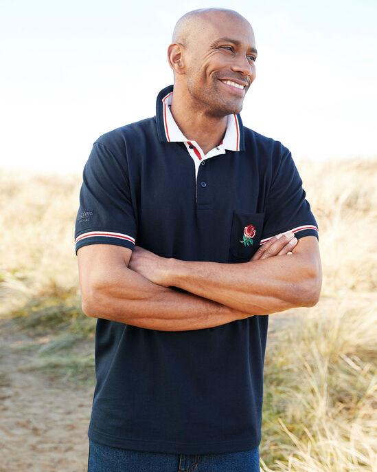 Short Sleeve Classic England Polo Shirt