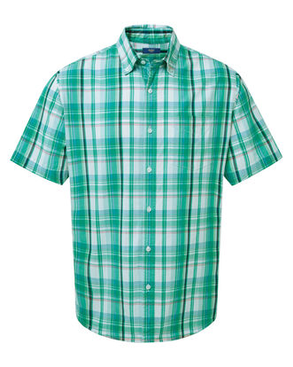 Dark Spearmint Short Sleeve Check Shirt