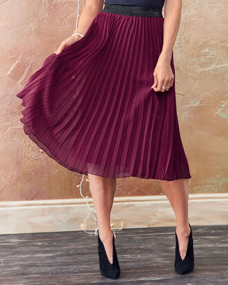 Swishy Pleated Skirt