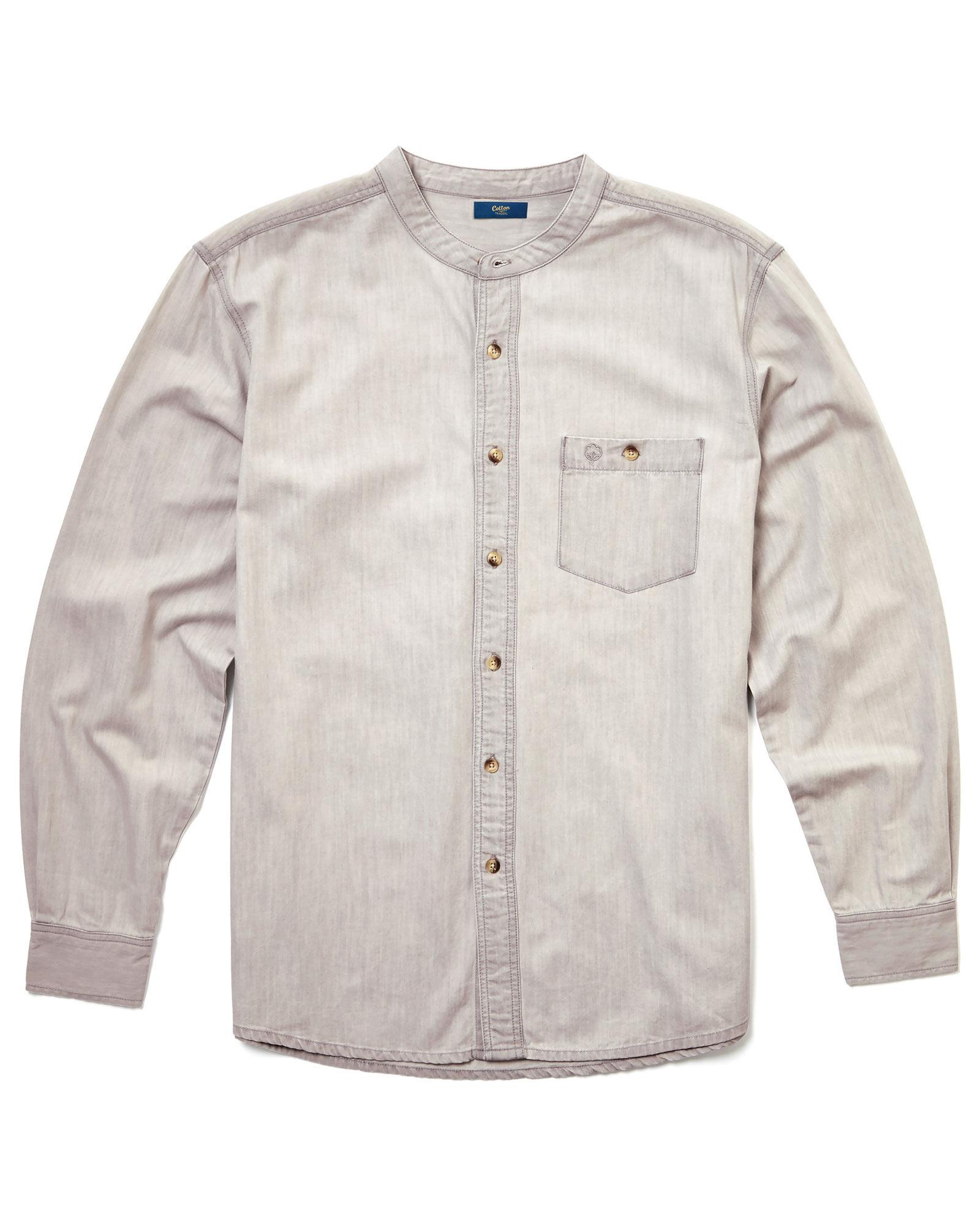 Quality Classic design 100/% Cotton Grandad Shirt Button Through Kaboo Original