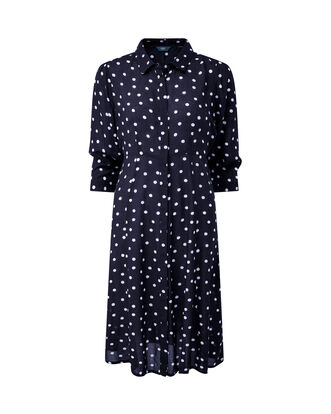Spot Button-through Printed Dress