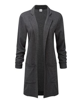 Jersey Tweed Longline Jacket