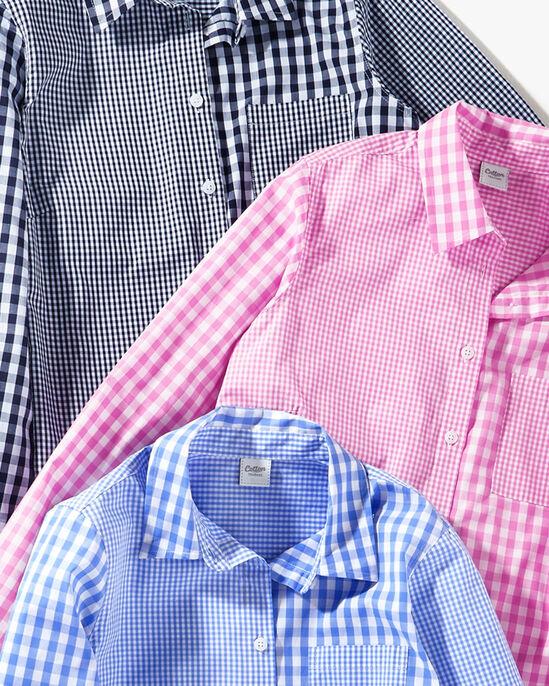 Long Sleeve Multi Gingham Shirt