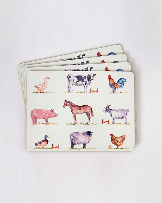 Set of 4 Country Farm Placemats and Coasters