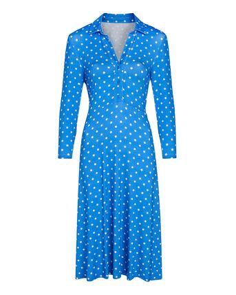 Classy Printed Jersey Midi Dress