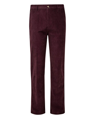 Flat Front Cord Trousers