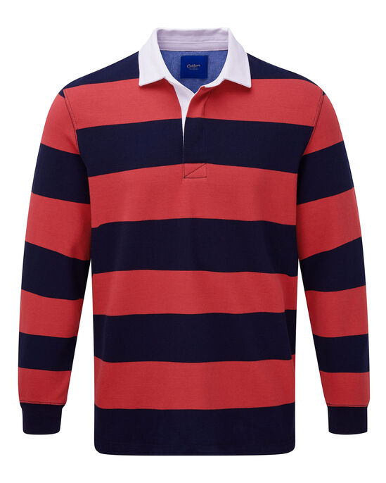 Long Sleeve Stripe Rugby Shirt At