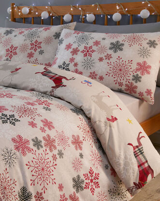 Garland Reindeer Brushed Cotton Duvet Set