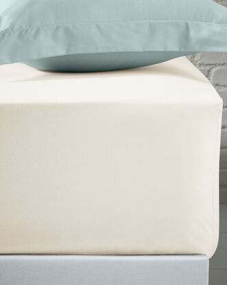 200 Thread Count Cotton Percale Extra Deep Fitted Sheet King Size