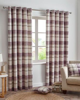 Balmoral Check Eyelet Curtains