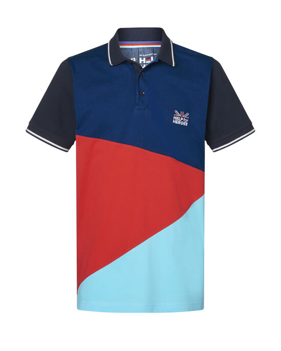 Help For Heroes Short Sleeve Panelled Polo Shirt