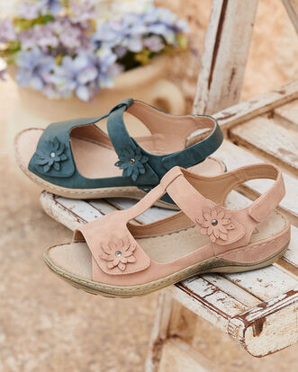 Comfort Adjustable Flower Sandals