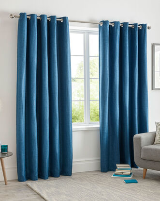Herringbone Blockout Eyelet Curtains