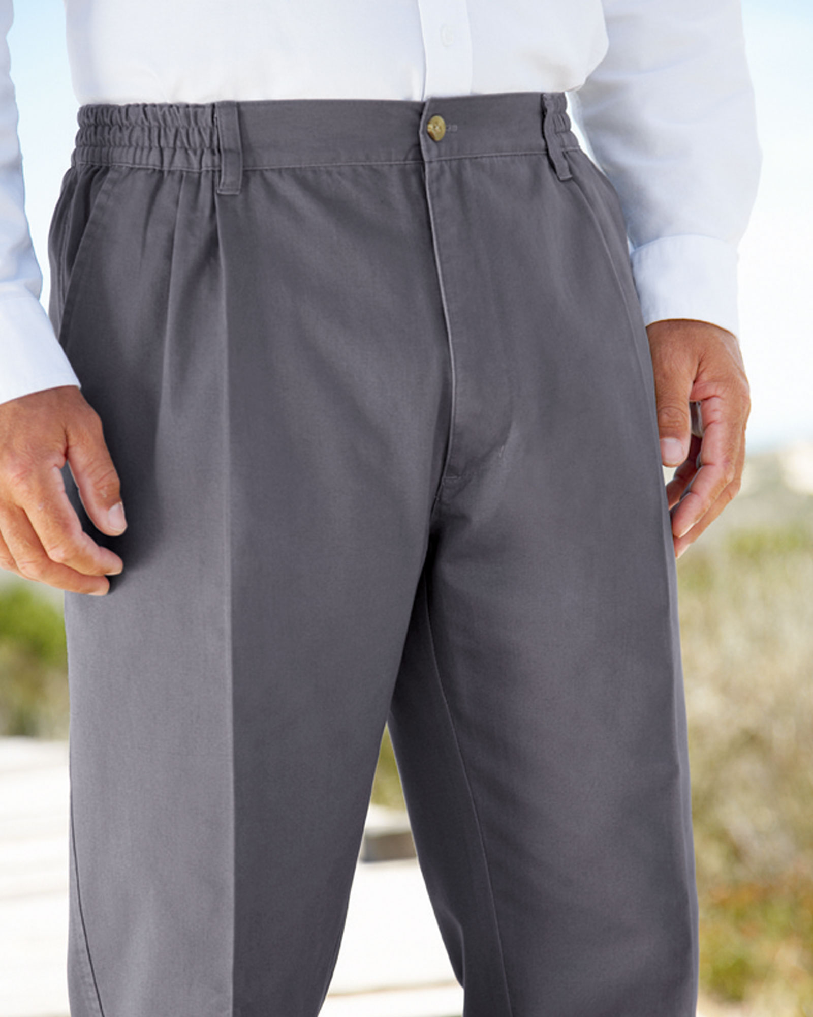 2954f54acd Elasticated Waist Trousers at Cotton Traders