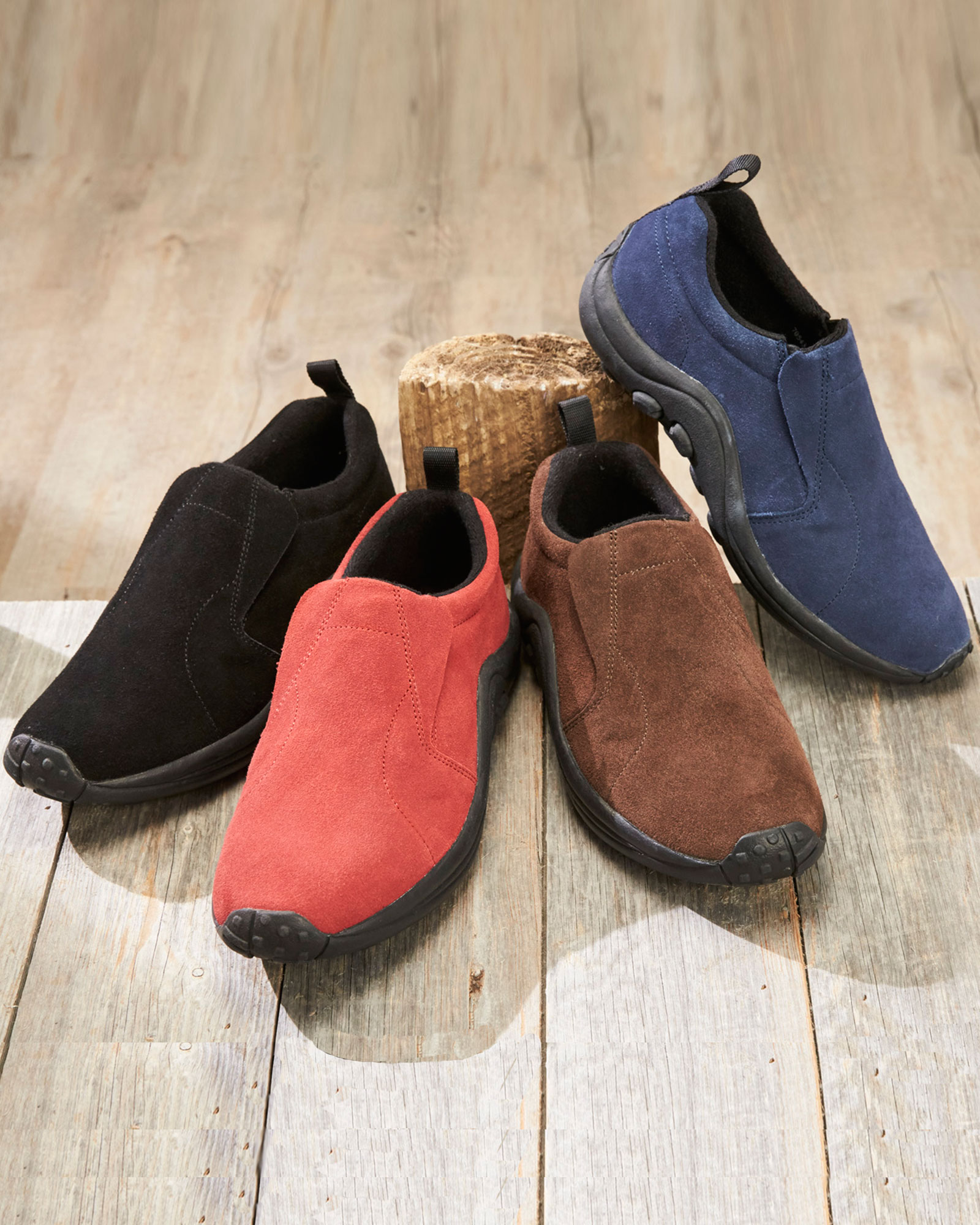 a50b0bdd984 Wide Fit Suede Slip-ons at Cotton Traders