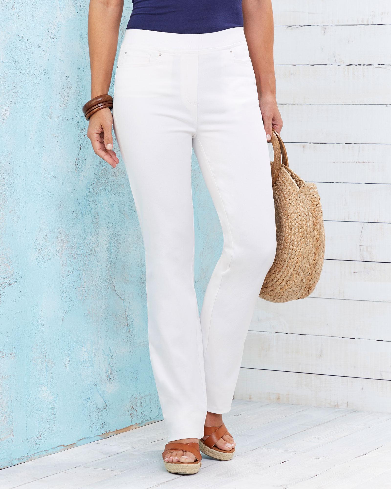 Premium Pull-on Rib Waist Jeans at Cotton Traders 614979f7ecae