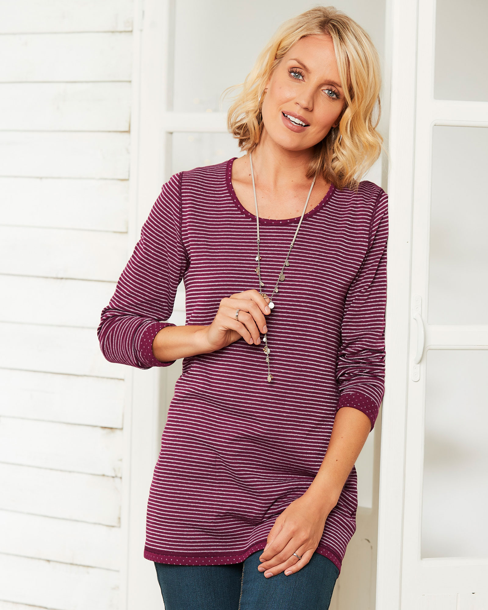 21557e5a Reversible Sparkle Tunic at Cotton Traders
