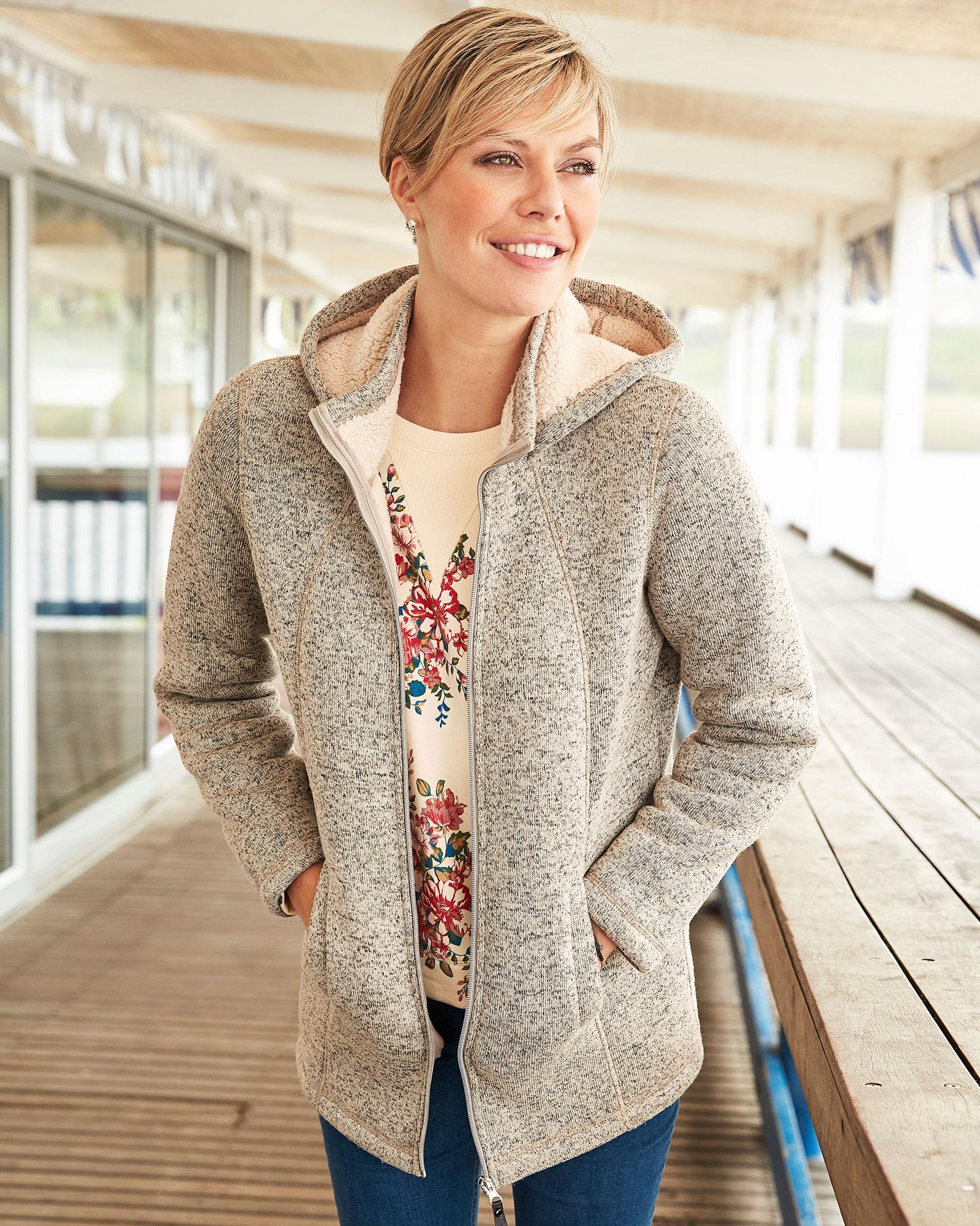 Cotton Traders Womens Bonded Fleece Jacket