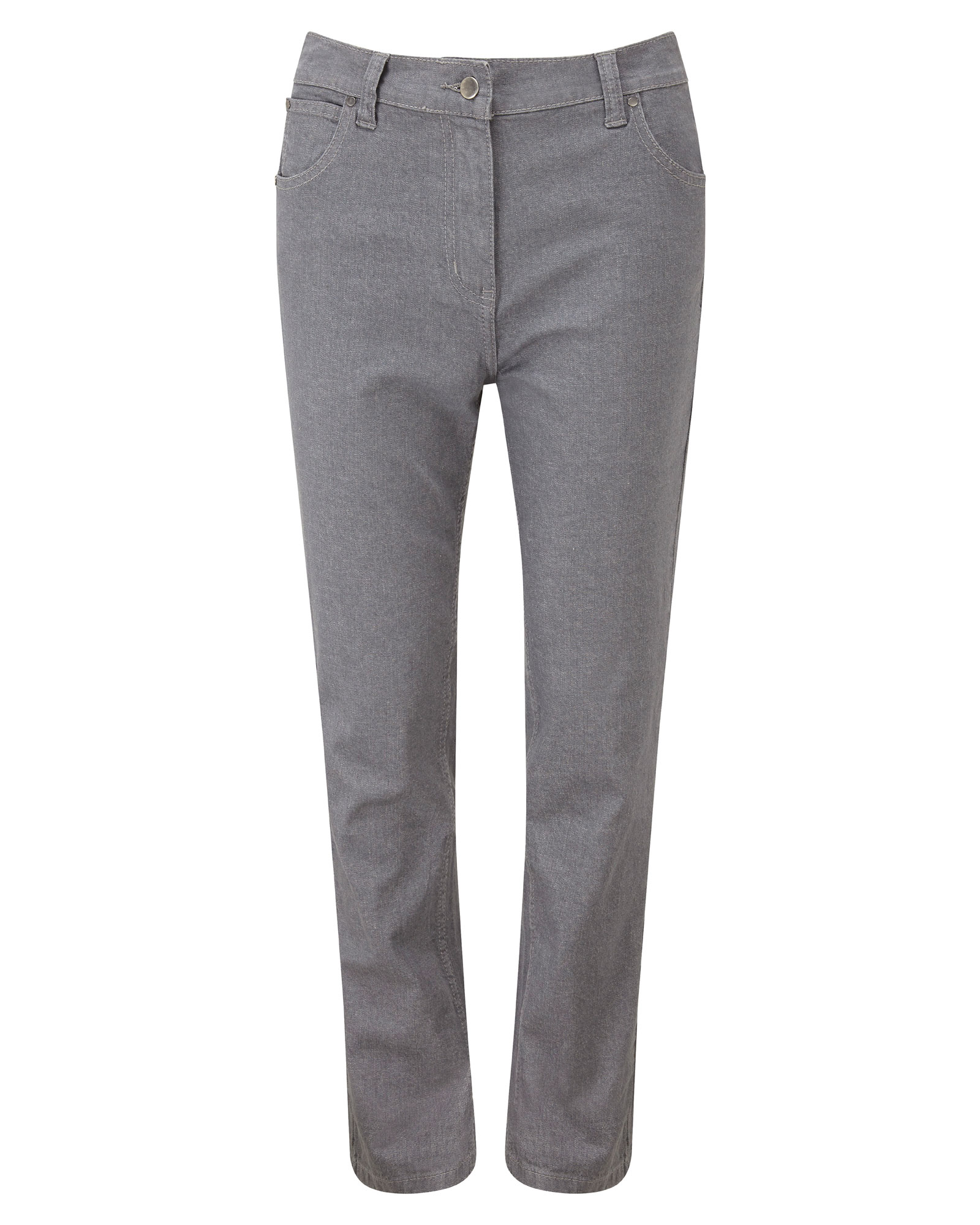 Cotton Traders Women's Classic Stretch Jeans in Grey