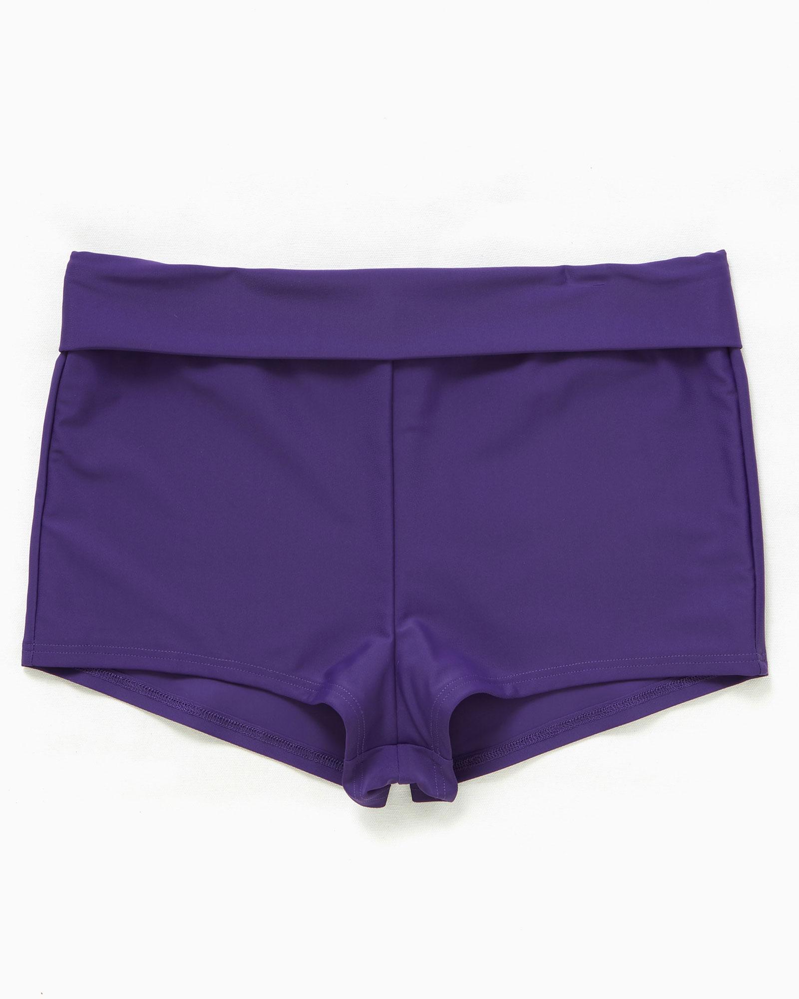 f43c427f71 Cotton Traders Women's Roll Top Tummy Control Short in Purple (Clothing  Swimwear) photo